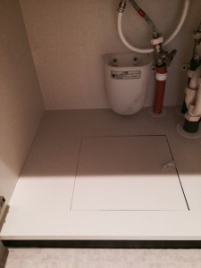 キッチン底板補修補修後